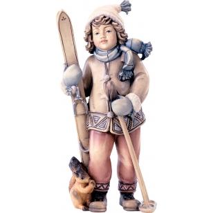 Socha  Dívka s lyžemi