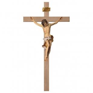 Dřevěný hladký kříž Barok